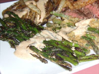 Click here to go to my recipe for Grilled Asparagus