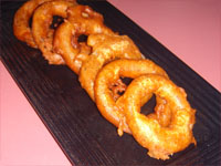 Click here to go to my recipe for Beer Battered, Onion Rings