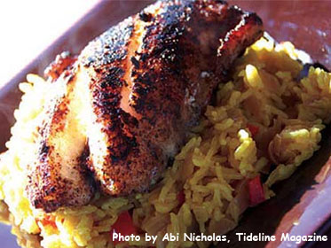 Jamaican Jerked, Blackened Grouper, Picture