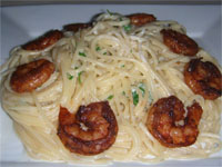 Click here to go to my recipe for Blackened Shrimp Fettucini