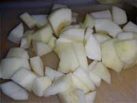 Chopping Apples for Soup Picture