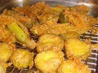 Draining the Pickles after Frying Picture