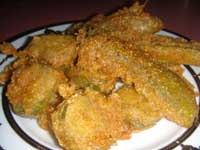 Click here to go to my recipe for Fried Pickles with Beer Batter