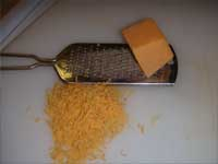 Finely Grating the Cheese for Garnish Picture