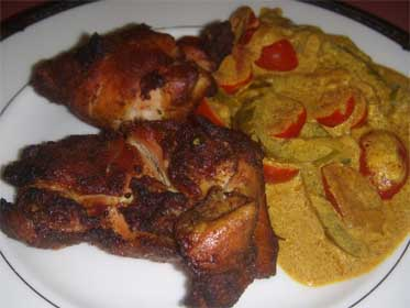 Grilled Curried Chicken Thighs, Picture