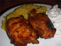 Click here to go to my recipe for Jamaican Curried Chicken Thighs