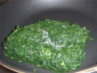 Stuffed Chicken Florentine, Thawing Spinach Picture
