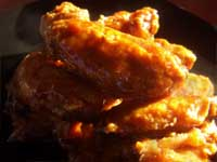 Asian / Orange, Boiled then Baked Chicken Wings Picture