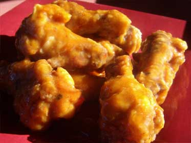 Fried Wings with Orange / Chipotle BBQ Sauce Picture