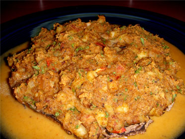 Conch Stuffed Portobleeo Mushrooms Picture