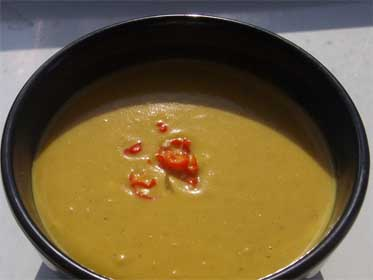 Curried, Acorn Squash Soup Picture