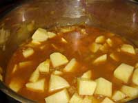 Boiling Potatoes in Chicken Broth Picture
