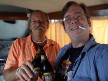 A quick Beer on the boat, Picture