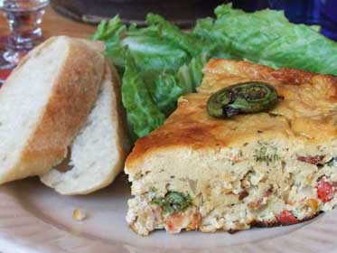 Fiddlehead Fern Frittata, Picture