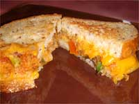Click here to go to my recipe for Southwestern Grilled Cheese, from Leftovers
