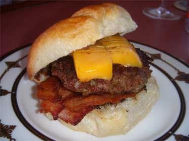 Bacon, Cheddar Cheese Burger Picture