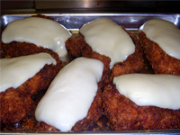 Jamaican Jerked Chicken Parmesan, Taking the Chicken out of the Oven, Picture