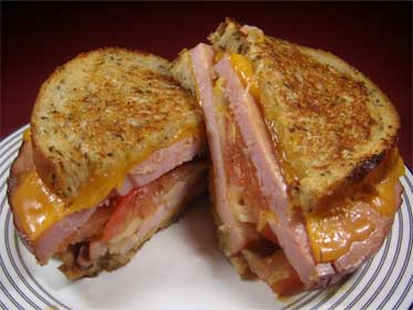 Smoked Ham Grilled Cheese, From Leftovers Picture