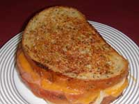 Plated Picture of a Grilled Cheese Sandwich
