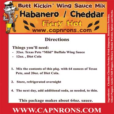 Picture of a __INSERT__BLACKEN__NAME Wing Sauce Label.