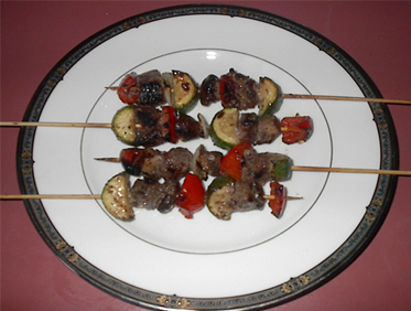 Mini Marinated Beef Kabobs Picture