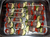 Skewered Kebabs, Ready to Cook Picture