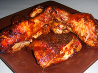 Click here to go to my recipe for Orange, Jerked, Oven BBQ Chicken