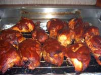 Oven, Barbecued Chicken Legs Finished Cooking Picture