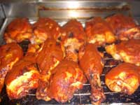 Oven, Barbecued Chicken Legs with Sauce Picture