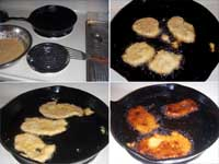 Plantain Fritters, Frying the Fritters Picture