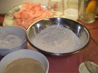 Setting up for a 3-step breading process, Picture