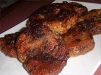 Finished Platter of Cranberry Pork Loin Chops, Picture