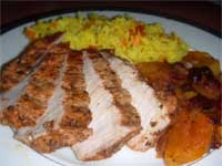 Click here to go to my recipe for Jerked, Pork Loin Chops