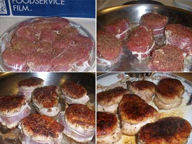 Pork Tenderloin Mignonettes, Cooking the Meat Picture