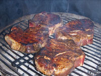Pork Steaks on Grill Picture