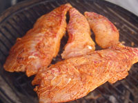 Blackened Red Snapper on Grill Picture