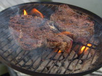 Grilling, Rib Eye Steaks Picture