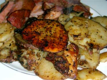 Leftover Ham With South West Pepper Fried Potatoes Picture