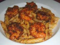 Click here to go to my recipe for Blackened Shrimp on Penne Pasta