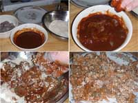 Cajun Style, Buffalo Shrimp Picture of the set up to coat the shrimp