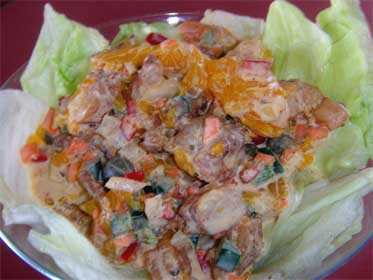Orange Jerked, Shrimp Salad Picture