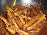 Seasoning the Fries Picture