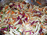Finished Slaw with Bacon Dressing for Slaw (Coleslaw) Recipe Picture