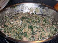 Turkey Meatballs Florentine the MEatballs all mixed up Picture