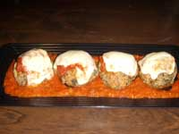 Turkey Meatballs Florentine Plated Picture